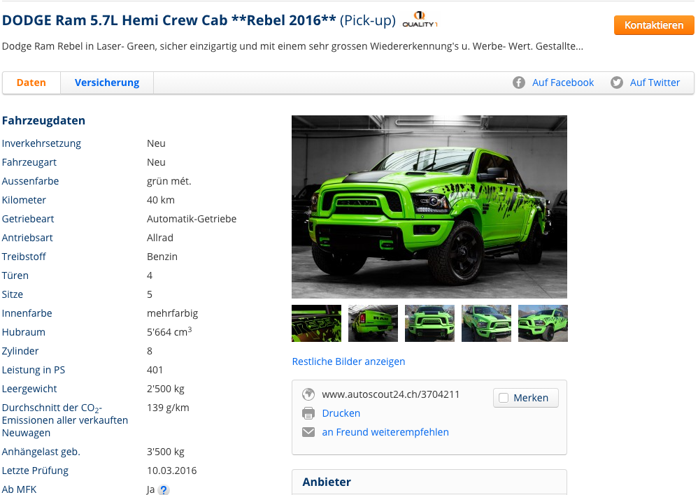 Joël Super | DODGE Ram 5.7L Hemi Crew Cab **Rebel 2016** (Pick-up) - Joël Super